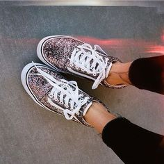 "vans girls on Instagram  ""Glitter Glam  Loving  leilahurst s Chunky Glitter  Old Skools. Shop or find a store at vans.com  vansgirls"" 6344d7823"
