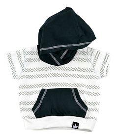 Gray & White Stripe Hoodie - Infant Toddler & Boys
