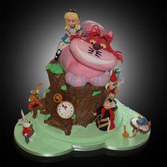 Alice in Wonderland Wedding Cake - by TheCakeArtist @ CakesDecor.com - cake decorating website