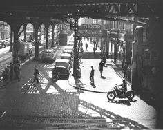 VView of the Tudor cinema (showing Without Reservations and The Shadow Returns) near the intersection of East 42 Street and Third Avenue, under the IRT Third Avenue elevated railway, New York, New York, early 1946. (Photo by Fred Stein Archive/Archive