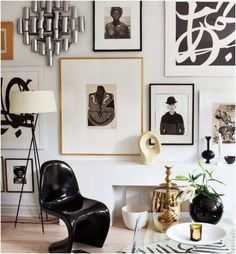 Inspiring art wall decor...