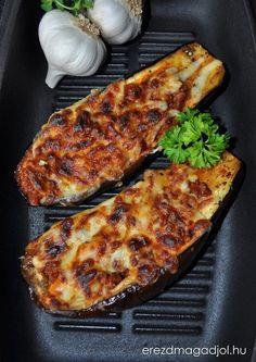 padlizsanos-receptek Veggie Recipes, Diet Recipes, Vegetarian Recipes, Healthy Recipes, Healthy Food Options, Food 52, Food Hacks, Holiday Recipes, Food Porn