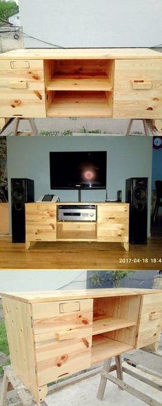 Pallet Tv Counsle Ideas