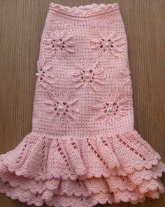 Dress for dogs Clothes for small dogs on order Sweater for dogs Chihuahua clothing York clothes knitted clothes on request Hoodies Size XXXS XXS XS S M L XL. This hand knitted dress has a gentle pink color. In stock 1 piece. , the size of S (Neck-11 / 28 sm. Chest-13 / 33 sm.