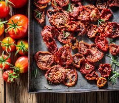 Whether it's canning, freezing, or drying, learning how to preserve tomatoes when they are in season will save you money throughout the winter. Preserving Tomatoes, Dried Tomatoes, Fruits Déshydratés, High Acid Foods, Red Vegetables, Low Acid Recipes, Dehydrator Recipes, Canning Recipes, Preserves