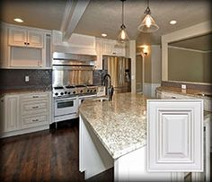 Bianco Romano Granite Countertops Stone Fireplace White
