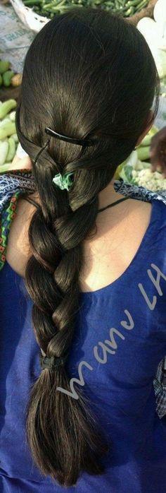 Long Silky Hair, Thick Braid, Braids For Long Hair, Beautiful Girl Indian, Hair Beauty, Dreadlocks, Hairstyle, Long Hair Styles, Shiva