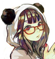 anime with glasses | anime, girl, panda suit, glasses - inspiring picture on Favim.com | We ...
