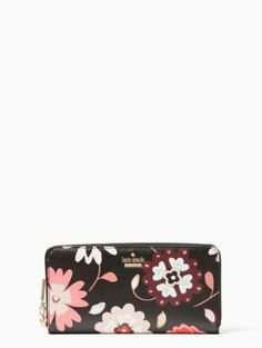 a0a21342dfc65 Kate Spade black with floral wallet- I need! If I could find a black wallet  with embroidered floral