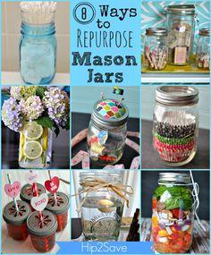 Great Idea Series (Re-Purposing and Re-Using Everyday Items): 8 Ways to Re-Purpose MasonJars