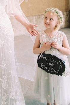 This sweet little one: http://www.stylemepretty.com/destination-weddings/2015/02/03/rustic-foodie-inspired-wedding-in-italy/ | Photography: Lisa O'Dwyer - http://www.lisaodwyer.com/