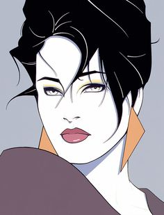 """The Eyes"" - Patrick Nagel {beautiful female head pop art woman face portrait painting #2good2btrue} patricknagel.com"