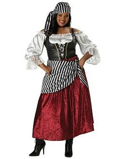 Plus Pirates Wench   Cheap Pirates Womens Halloween Costume for Plus Sizes