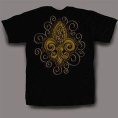 Sweet Thing Funny Black & Gold Fleur De Lis Girly Bright T-Shirt | SimplyCuteTees
