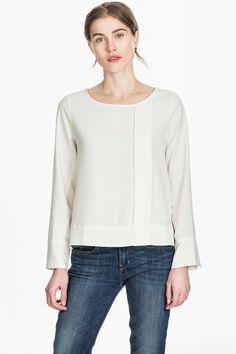 LILLA P Pleat Front Blouse WCA27 - Elizabeth Boutique $136 #lillap #tops #blouse