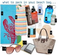 What to pack in your beach bag!