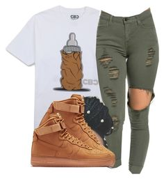 """"""""""" by dopekouture ❤ liked on Polyvore featuring NIKE"""