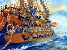 La Pintura y la Guerra. Sursumkorda in memoriam Battle Of Lepanto, Hms Victory, Old Sailing Ships, Ship Paintings, Man Of War, Wooden Ship, Navy Ships, Underwater World, Ship Art