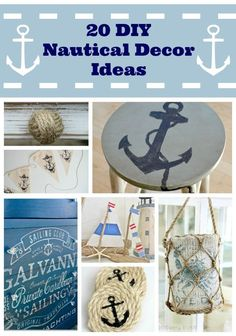 20 DIY Nautical Decor | http://homedesignphotoscollection.blogspot.com