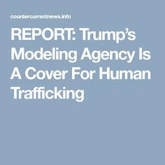 Donald Trump has taken this huge stand against illegal immigration. He has stated that all illegal immigrants need to go home. Yet there have been allegations made that Trump's own wife violated immigration laws. Current News, Current Events, Human Trafficking, Model Agency, Modeling, Cover, Modeling Photography, Models