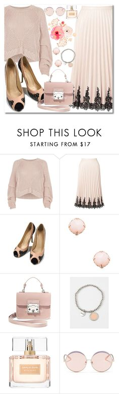 """""""All Nude#"""" by sunny-chen-2 ❤ liked on Polyvore featuring River Island, Miss Selfridge, Meira T, Steve Madden, Givenchy and N°21"""