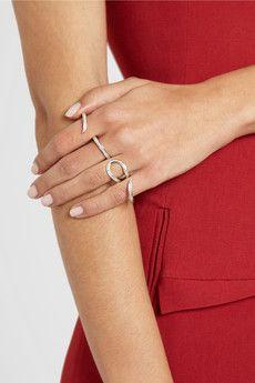 ANA KHOURI  Stem 18-karat gold diamond four-finger ring  $6,200