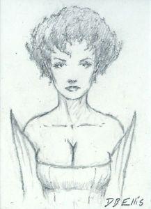 BENE GESSERIT SCHWANGYU original sci fi art, ACEO, original DUNE art