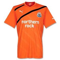 Newcastle United Away Soccer Jersey 2011-12 by PUMA. $34.55. The Newcastle United Away Soccer Jersey is a brand new design from Puma for the 2011-12 season and will be worn by players such as Coloccini, Tiote and Lovenkrands in the Premier League, the FA Cup and the Carling Cup. It is orange in colour with black trims and can be combined with the shorts and socks as part of the Newcastle United away football kit. The jersey is made from 100% polyester and is a shor...