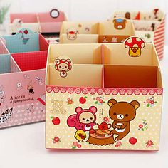 EUR € 4.22 - Bear patroon papier Organizer Box
