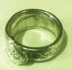 Silver handmade spoon ring. -Michael Briehler