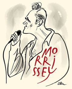 Morrissey / Musician / Illustration by Francisco Javier Olea Illustration Art, Illustrations, Caricatures, A Funny, Famous People, Projects To Try, Rock, Stars, Portrait
