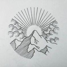 Tatuaje Ideas 2017 WTF DotWork Tattoo: Foto - Arquitectura y Arte . - Tatuaje Ideas 2017 WTF DotWork tattoo: foto – arquitectura y arte Tatuaje Ideas - Tattoo Drawings, Art Drawings, Easy Nature Drawings, Tattoo Linework, Simple Drawings, Funny Drawings, Sunset Tattoos, Sunrise Tattoo, Sunrise Logo