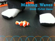 Making waves is a gross motor trampoline activity that addresses proprioception, body awareness, and motor control. Children are asked to make different sizes waves for the fish on the trampoline. Proprioceptive Activities, Gross Motor Activities, Movement Activities, Animal Activities, Gross Motor Skills, Sensory Activities, Activities For Kids, Proprioceptive Input, Vestibular System
