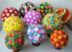 Corrugated paper balls: master-class