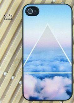 Beautiful Geometric Triangle Cloud Matte Phone Cover Case For IPhone 4/4s/5