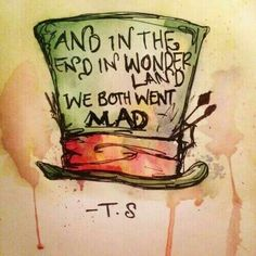 'And in the end in wonderland we both went mad.' - lyrics from 'Wonderland' by Taylor Swift my favorite song Wonderland Taylor Swift, Alice And Wonderland Quotes, Winter Wonderland, Taylor Swift Quotes, Taylor Swift Tattoo, Were All Mad Here, Lyric Quotes, Qoutes, Funny Song Lyrics