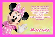 Convite digital personalizado da Casa do Mickey Mouse 002