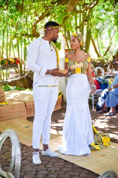 South african wedding dress - A Stylish Venda Wedding – South african wedding dress South African Wedding Dress, African Wedding Theme, African Traditional Wedding Dress, Traditional Wedding Attire, African Wedding Attire, African Prom Dresses, South African Weddings, Latest African Fashion Dresses, African Print Fashion