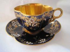 Antique Coalport Cup and Saucer Set  Antique by VintageInBloom, $190.00