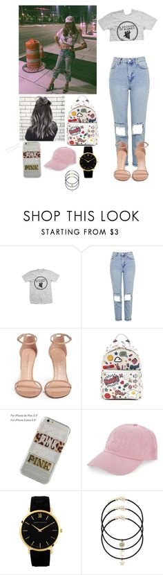 """""""A 5sos concert with arzaylea"""" by joelene-garcia ❤ liked on Polyvore featuring Topshop, Stuart Weitzman, Anya Hindmarch, Victoria's Secret and Nasaseasons"""