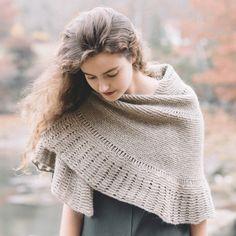 Leading bird shawl