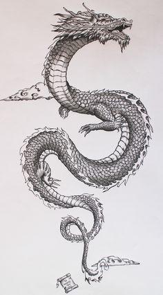 Ancient japanese dragon on Behance