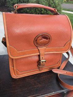 VINTAGE DOONEY & BOURKE ALL WEATHER LEATHER British Tan Pebbled Cross body Bag    eBay