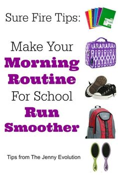 Sure-Fire Tips to Make Your Morning Routine For School Run Smoother | The Jenny Evolution