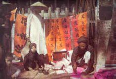 L'Indochine Coloniale - Vivre au Tonkin - Marchand de sentences, Hanoi, 1915