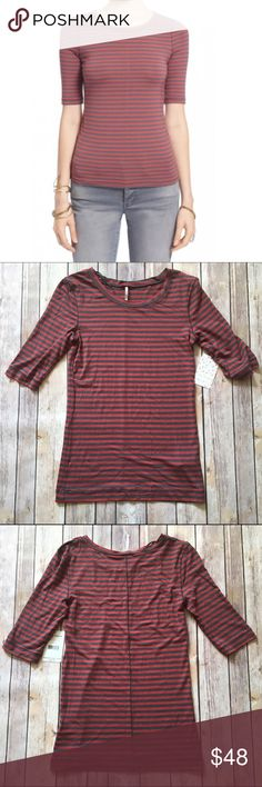 "Free People Cherry Striped Leader of the Pack Tee Look no further for the perfect fall tee! This is a Free People Leader of the Pack Tee in Cherry Stripe. Elbow sleeves, scoop neckline, approx. 23 1/2"" L. Brand new with tags!!!   🚫NO TRADES 🚫NO OFF SITE  ✅POSH RULES ONLY ✅DOG FRIENDLY, SMOKE FREE HOME ✅FAIR OFFERS 🔵 PLEASE USE OFFER BUTTON!  ❓ASK IN THE COMMENTS!   🔹🔹🔹BUNDLE 2+ ITEMS & SAVE!!!!!🔹🔹🔹 Free People Tops Tees - Short Sleeve"