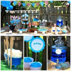 Blue Smurf Birthday Party Theme