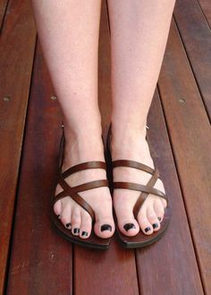 fb7d1bba12e9 Leather Sandal Pania Goddess Range by HeidiLouiseBootmaker