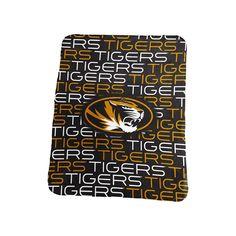 Logo Brand Missouri Tigers Classic Fleece Blanket, Black