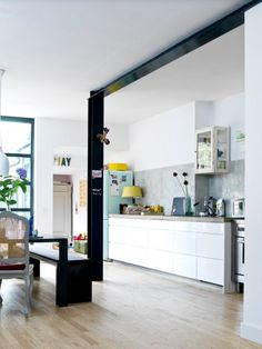 Strakke keuken met witjes